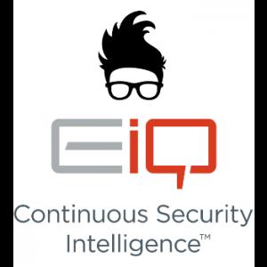 Logo EIQ COntrole van uw systemen 24 uur per door door intelligente oplossing via VeiligNet